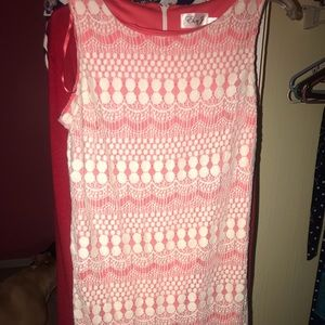 Lace dress with underlay size 10